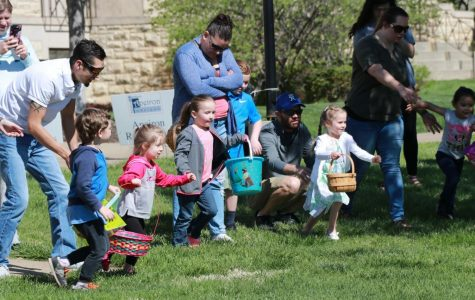 Off and running: Children took off to hunt for Easter eggs. The annual Easter Egg Hunt was hosted by CAB on April 20.
