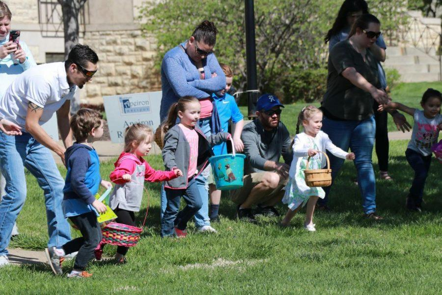 Off+and+running%3A%C2%A0Children+took+off+to+hunt+for+Easter+eggs.+The+annual+Easter+Egg+Hunt+was+hosted+by+CAB+on+April+20.