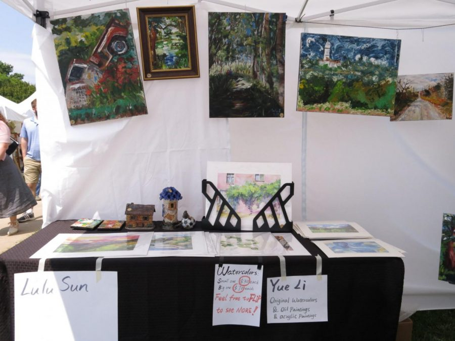 Student+artists+display+their+works+in+Mulvane+Art+Fair.%C2%A0
