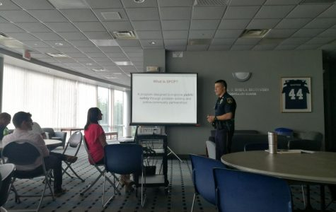 Let's get down to business: The Strengthening Police and Community Partnerships (SPCP) District 6 discussion held at the Bianchino Pavilion on Washburn University campus.