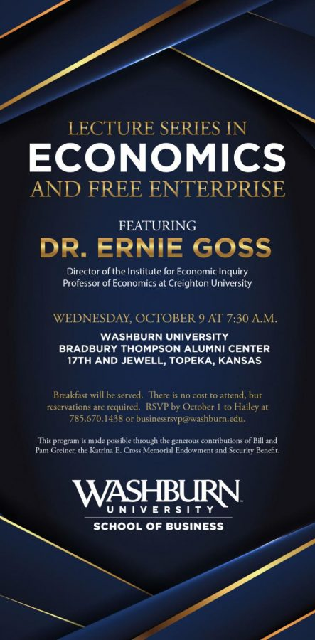 Well-Known Economist Dr. Ernie Goss to Be Featured at Annual Economics Breakfast