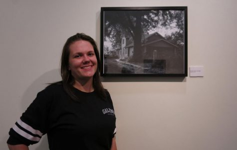 Meatloaf and creamed corn:Sam Veal stands by her photo. Veal's exhibition was centered around her abusive experiences living with her father.
