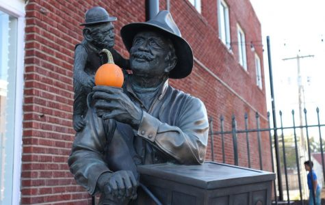 Spooky season: North Topeka is a rapidly growing area with so much to do and see. Pictured is a statue in NOTO.