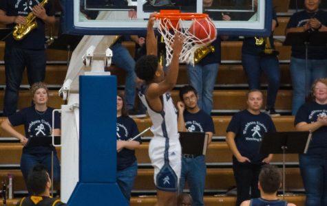 Dunk: Freshman Connor Deffebaugh hits the dunk. Deffebaugh had ten points during Wednesday's game.