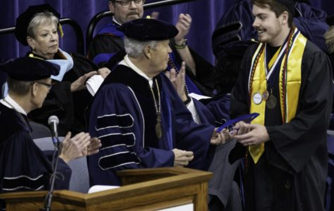 Sibberson Award winner: Jonathan Barnell receives the prestigious Sibberson Award at fall graduation Dec. 13, 2019. Barnell graduated with a 4.0 GPA and plans to attend graduate school to obtain a doctorate degree.
