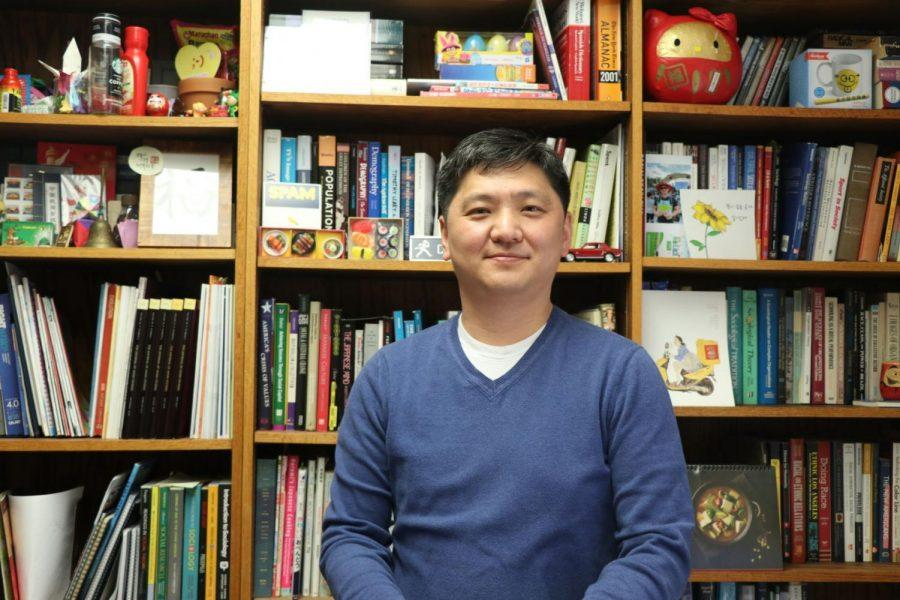 Helping students: Sangyoub Park is an associate professor of sociology at Washburn University. He helped students succeed in class, and holds many international events in the community.
