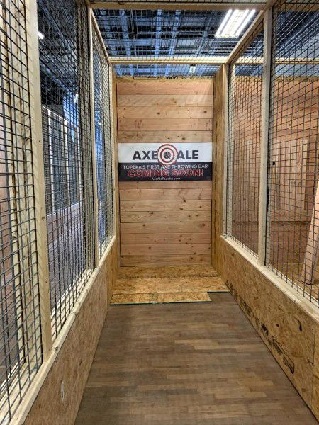 Bullseye: This throwing lane under construction at Axe and Ale will be completed and ready for action later this summer. Axe throwing is a great way to socialize and exercise simultaneously.