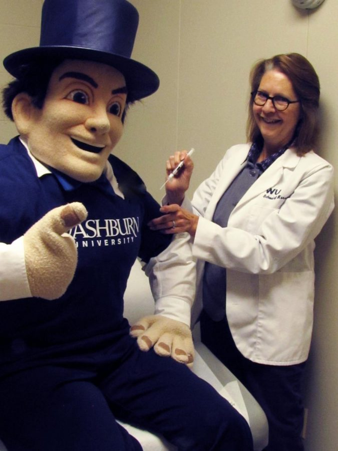 Top Hat: The Ichabod knows it's time to get a flu shot! Join him and get your flu shot from the School of Nursing.