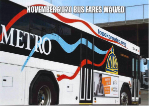 November 2020 Bus Fares Waived