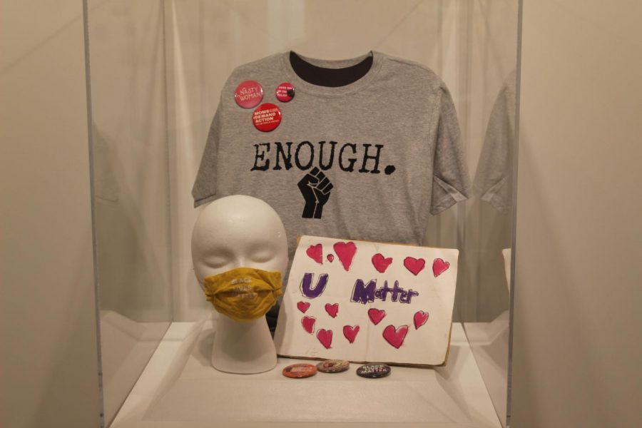 Another voice: A mask, a shirt and a few pins with the theme of human rights. Many businesses have sold such items with the issue of social injustice on our minds.
