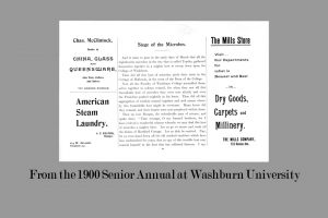 image of a page from 1900 senior annual from Washburn College