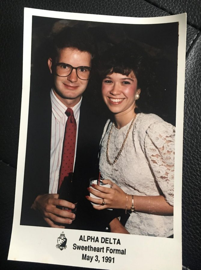 Throwback to 1991: This is a picture of Kristi and Brendan at an Alpha Delta formal. They certainly appear to be college sweethearts.