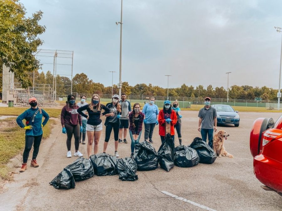 Cleanup bods: The Biology Bods worked hard to ensure a clean community. After a long day of picking up trash, the members of the Biology club were able to admire their hard work.