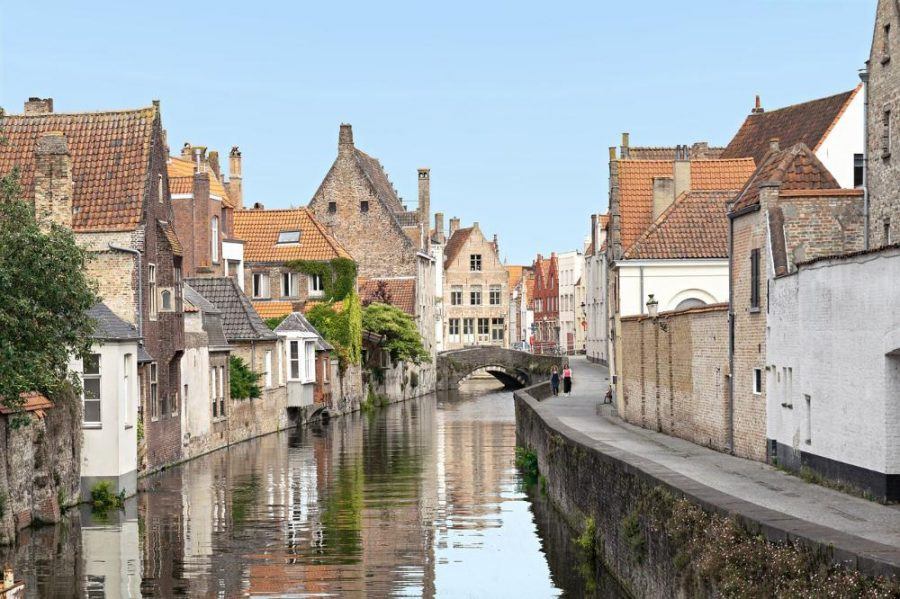 Rolling Waterways: A featured photograph of Belgium on the information page for the study abroad program. Those who travel with the program can expect to see more sites like this.