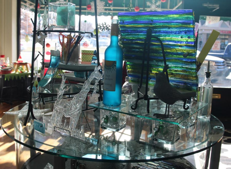 Delicate art: Anyone in the Topeka community is welcome to view, buy and create glass art of their choice. Washburn grad and owner Kymm Ledbetter offers classes to the community to create their own custom pieces.