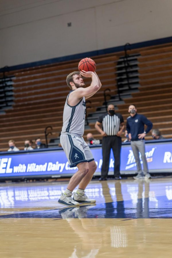 And one: Levi Braun shooting two at the free through-line. Braun had a total of four rebounds and one steal during the game against MSSU.