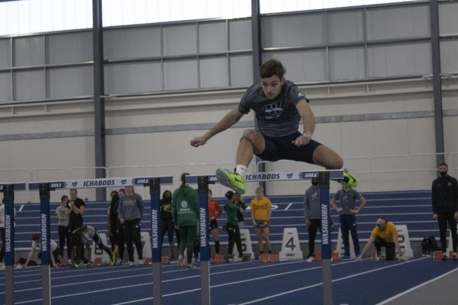 Romain Henry, who ranks eighth in the nation in 60 meter hurdles, earned second place at the Ichabod Invitational with a time of 8.21 seconds.