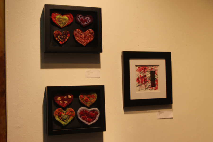 "Cheer Up: ""Heart Felt"" (left) was created by Betsy Knabe Roe and ""Happy"" (right) was created by Kathy Pflau. They are both NOTO artists."