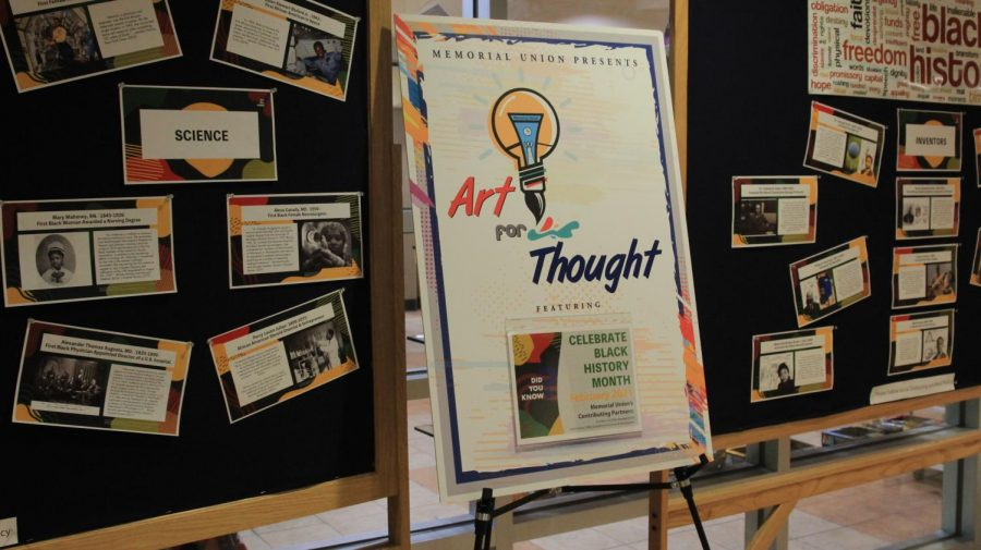 What do you think?: Art for Thought celebrates Black History Month by featuring many African American activists, artists, scientists, business owners, and many more. It is currently being displayed in the Memorial Union.
