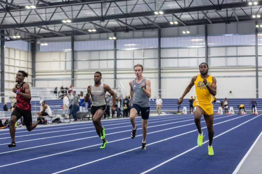 Drop the Hammer: Washburn's Wyatt Heiman picking up speed in the men's 60-meter dash. Heiman finished in 31st place with a time of 7.11 seconds. Heiman also competed in the men's 200-meter dash during the Washburn Open track and field competitions.