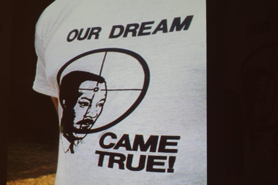 A deadly memory: A t-shirt meant to signify Dr. Martin Luther King Jr. as