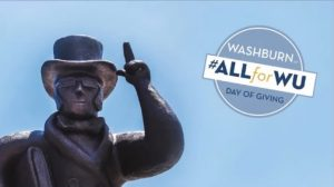 All for WU Washburn University celebrates the University's 156th Birthday by accepting donations. This event is an annual event