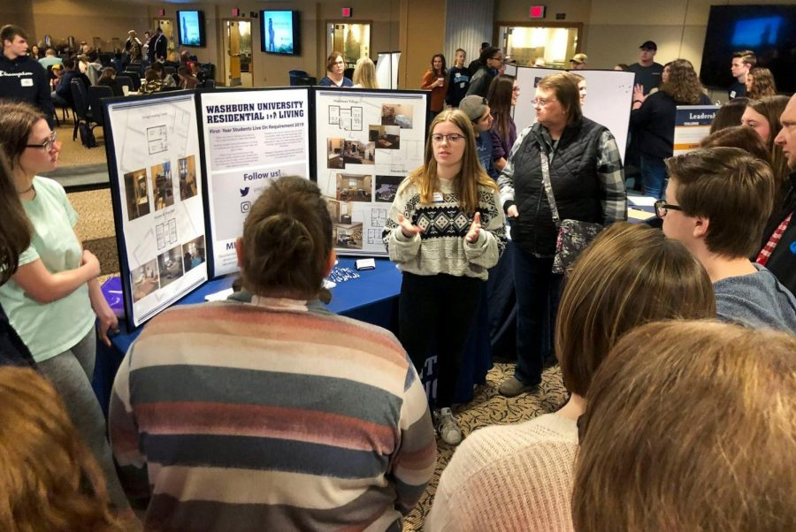 Here to learn: This photo is from a 2020 Ichabod Juniors Day event in January. High school students come from Topeka and beyond to visit our campus.