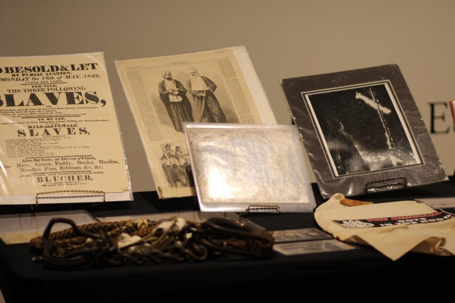 Relics from the past: The mobile museum starts with artifacts from the Slave Era, moving to the Jim Crow South, displaying microaggressions and vulgarity towards African Americans. Each item had it