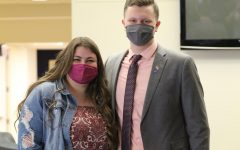 Presidential Winners: Abby Trautman (left) and Dylan Babcock (right) pose for a photo on their victory day. They will be the new president and vice president for the student body.