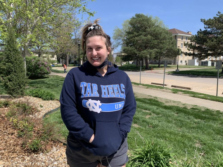 "Jenna Wilson,  Junior communications major   ""My favorite thing about spring is baseball, easily."""