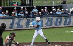 Load up: Sophomore infielder Tyler Clark-Chiapparelli gets ready to hit in the sixth inning of Washburn's 5-2 victory.