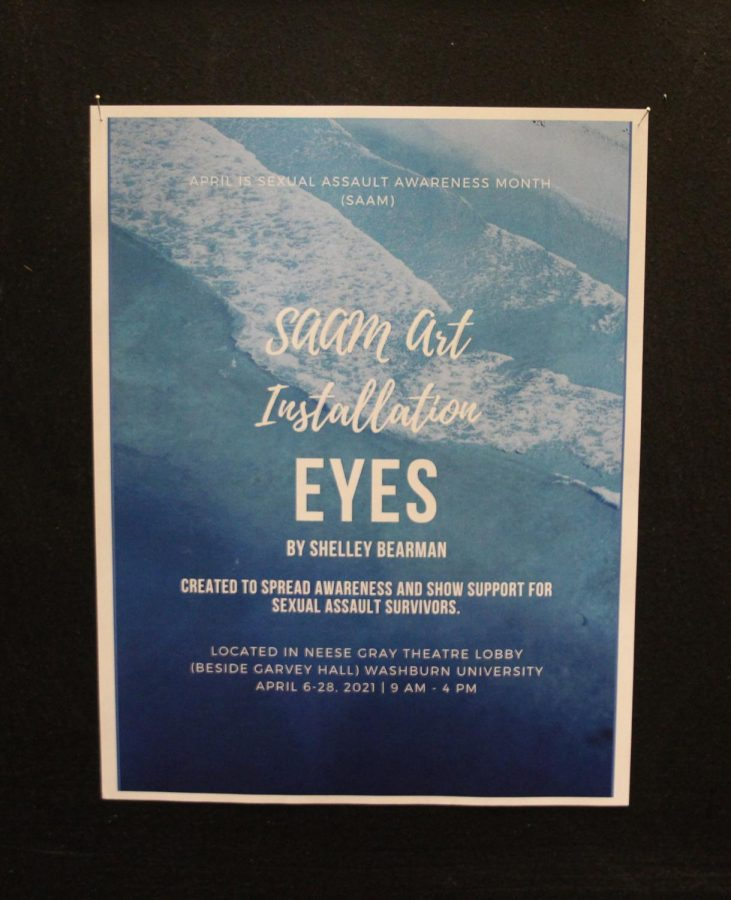 "Take a look: ""Eyes"" is an art installation by Shelley Bearman and features portraits and real stories of sexual assault survivors. Bearman hopes to bring awareness of sexual assault and encourage survivors to ask for help."