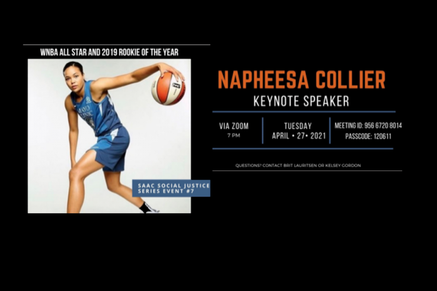 Brief: WNBA All Star to speak  on social justice Tuesday, April 27