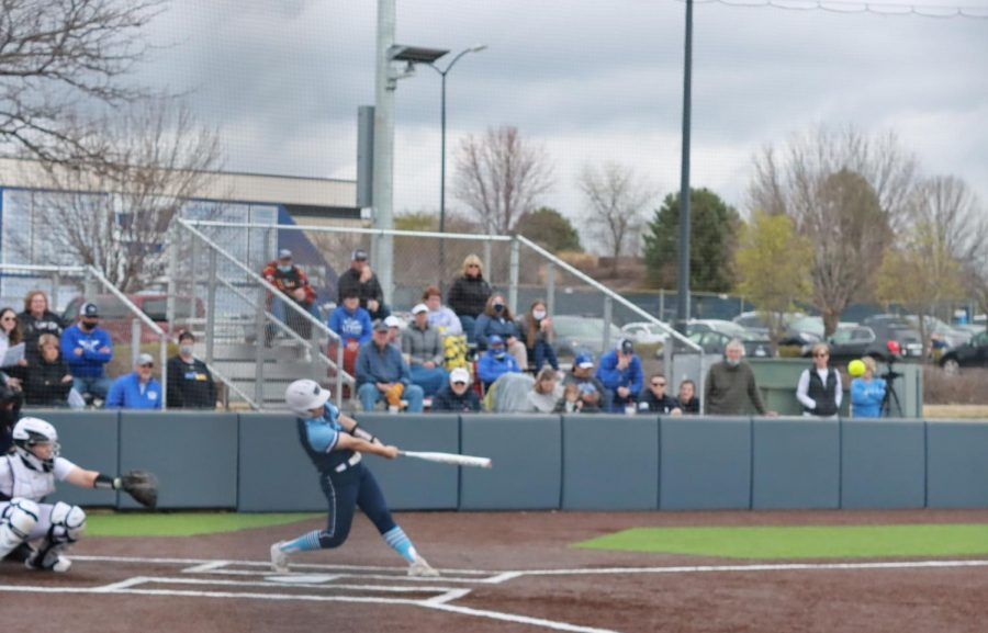 That%27s+a+hit%3A+Junior+catcher+Bri+Francis+sends+a+ball+into+center+field+in+the+Ichabods+7-6+victory+over+the+University+of+Nebraska+at+Kearney.