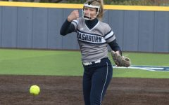Cruise Control: Jaycee Ginter pitches to a Lincoln hitter in game two of Washburn's doubleheader. Ginter would throw over five innings and allow only one earned run.