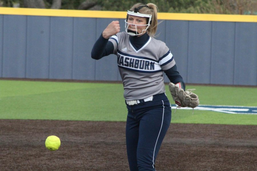 Cruise Control: Jaycee Ginter pitches to a Lincoln hitter in game two of Washburn