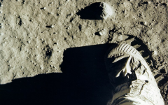 On lunar soil: Buzz Aldrin's boot print on the surface of the moon on July 20, 1969.