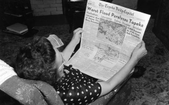 Bad news: A woman is shown reading