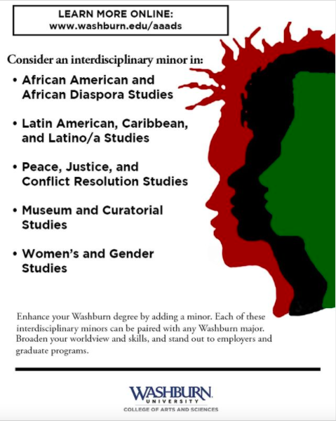Consider this minor: Washburn is offering students the opportunity to minor in the following studies.