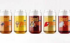 All seven of the limited-edition steins available