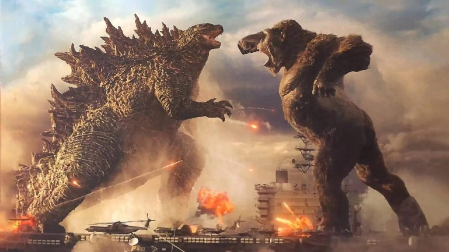 On the lawn: Washburn will be showing Godzilla vs. King Kong (2021) at Yager Stadium this Friday.