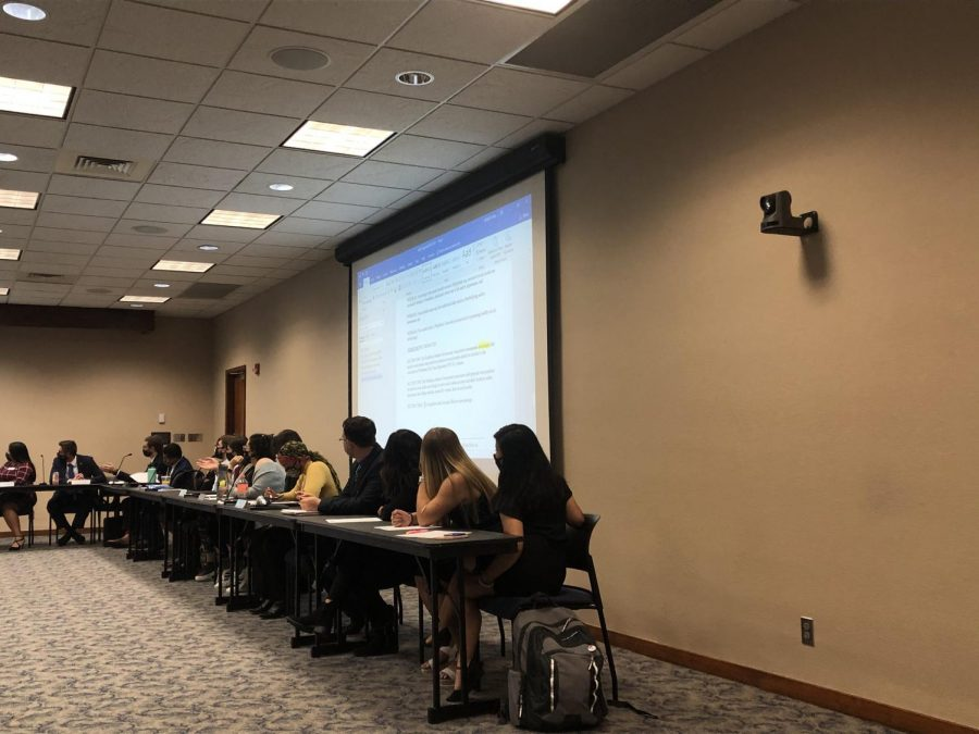 Edit away: WSGA members make edits for multiple documents. These documents will benefit the student body of Washburn University