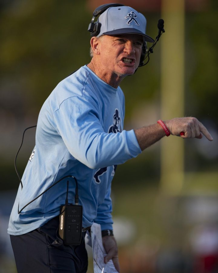 Passion: Washburn head coach Craig Schurig argues a call Thursday, Sept. 9, 2021, at Yager Stadium in Topeka, KS.
