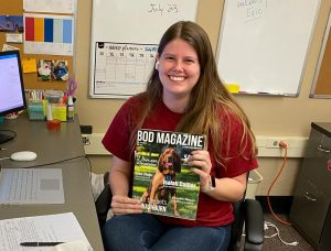 Leah Jamison works at Student Media as the Bod Magazine Editor in Chief. Her most recent issue is available for free on newsstands across campus.