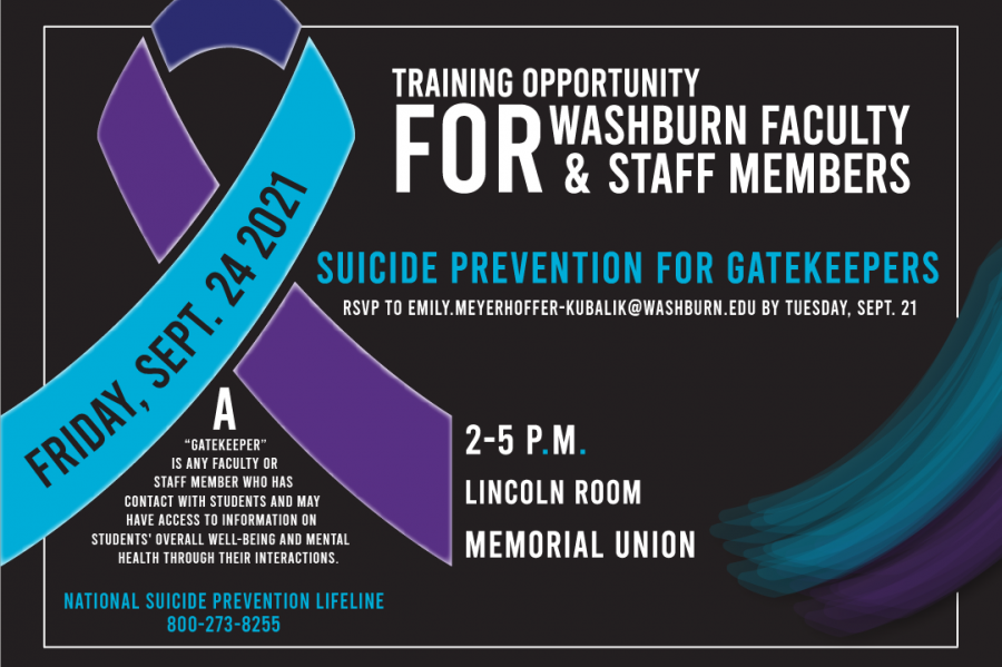 Brief: Washburn provides Suicide Prevention Training & Resources
