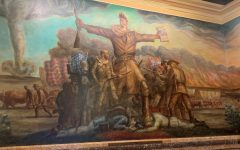 On display: The Topeka Capitol building is host to many murals including this one by John Curry.