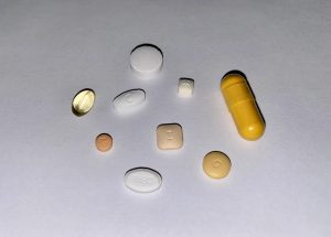Medicated: This picture is a look at the medications and supplements I take everyday.