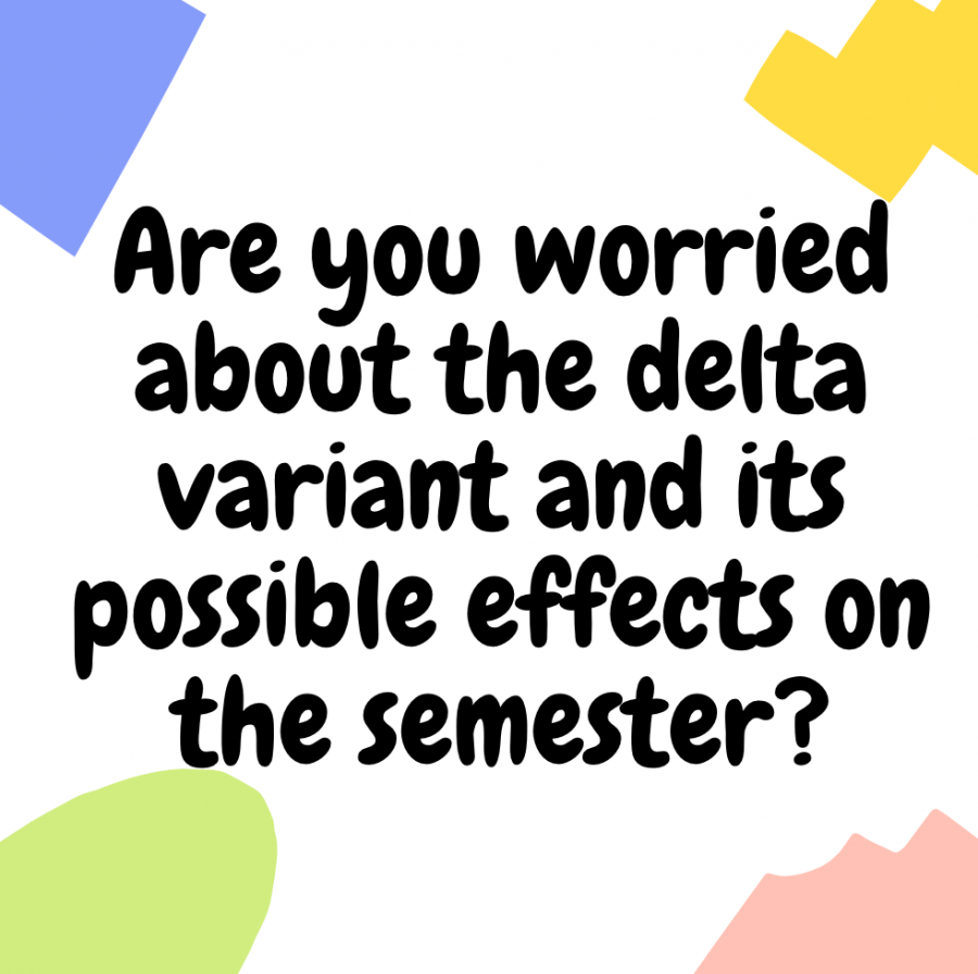 Bods on the block: Students are asked if they are worried about the delta variant and its possible effects on the semester.