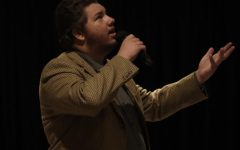 Resonate: Gabe Reichart looks up to bring out his passionate voice. His song choice helped redeem last weeks performance.The semi-finals took place Thursday, Oct. 14 in the Washburn A/B.