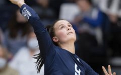 Start the action: Washburn defensive specialist Chloe Paschal serves the ball Thursday, Oct. 21, 2021, at Lee Arena in Topeka, Kansas. Paschal recorded four digs in the match.